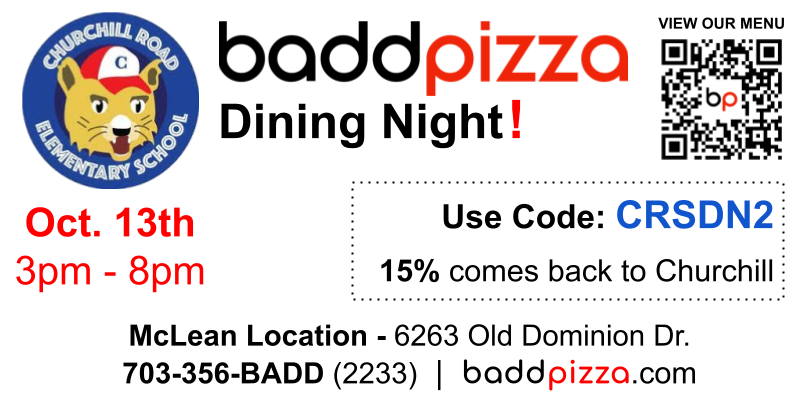 baddpizza dining out night code CRSDN2
